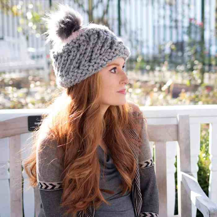 Super Chunky Swirl Hat Knitting Pattern by Gina Michele