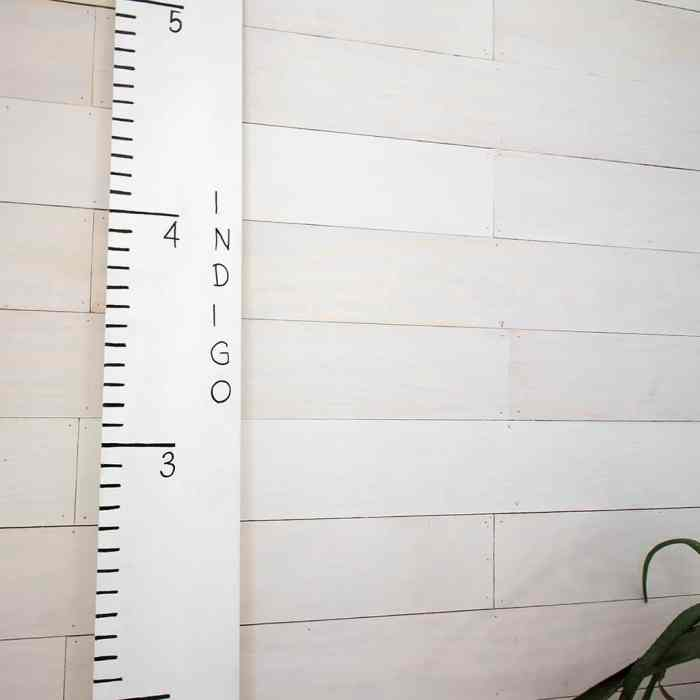 Growth Ruler DIY- Inspired by Pottery Barn