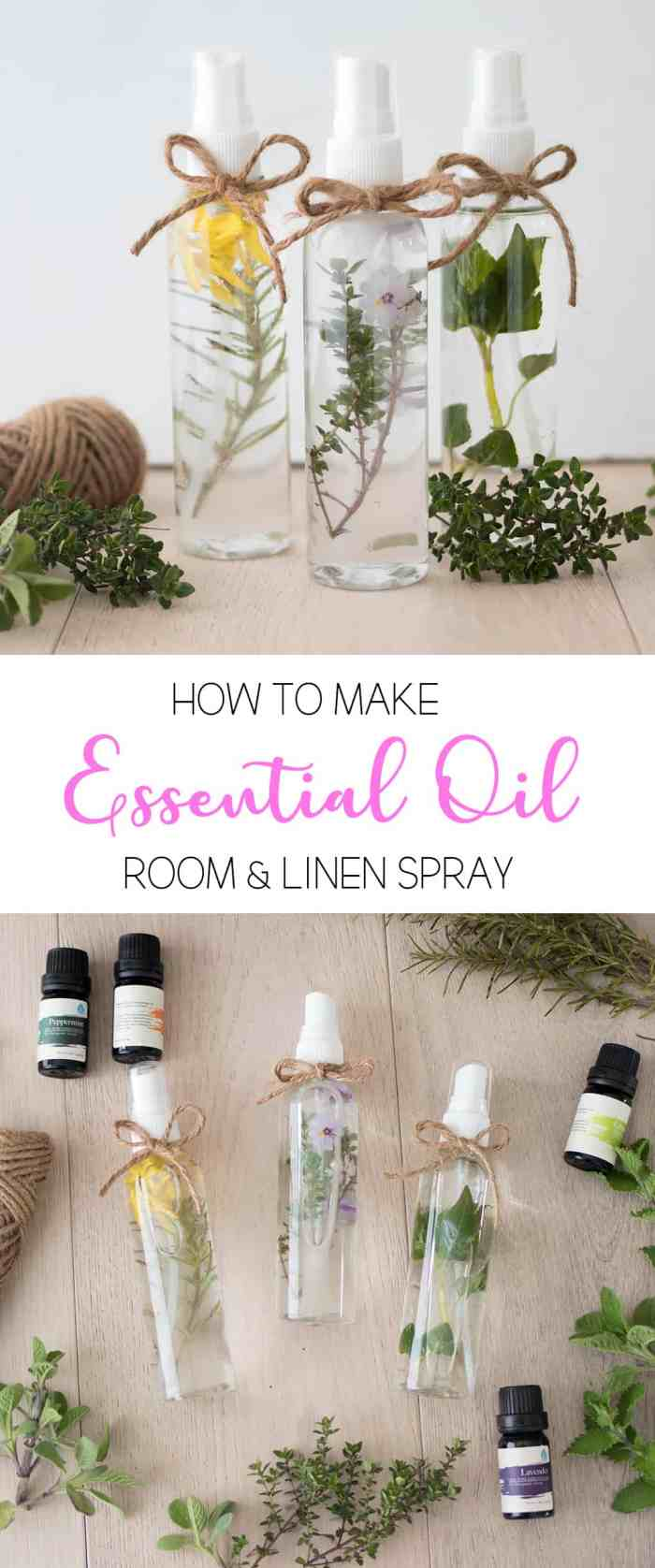 How to Make Essential Oil Room and Linen Spray
