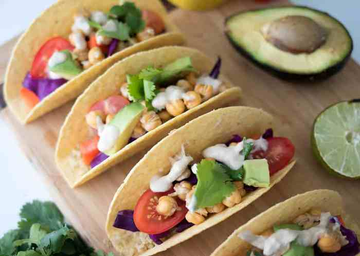 Vegan Rainbow Tacos with Tahini Lime Sauce