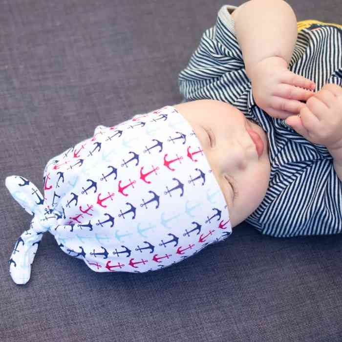 Double Top Knot Baby Hat Sewing Pattern by Gina Michele