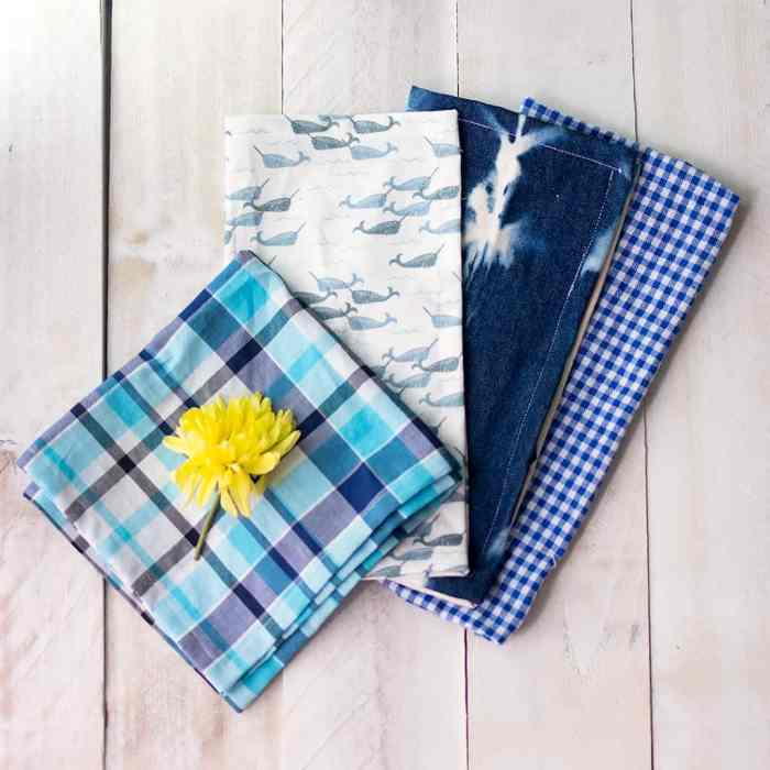 How to Sew Cloth Napkins with Mitered Corners