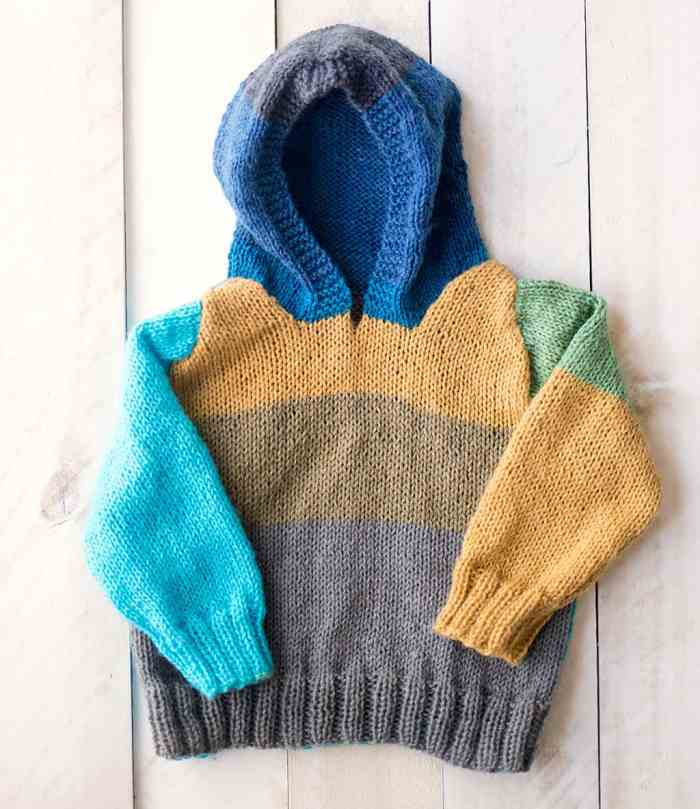 Baby Hooded Sweater Knitting Pattern
