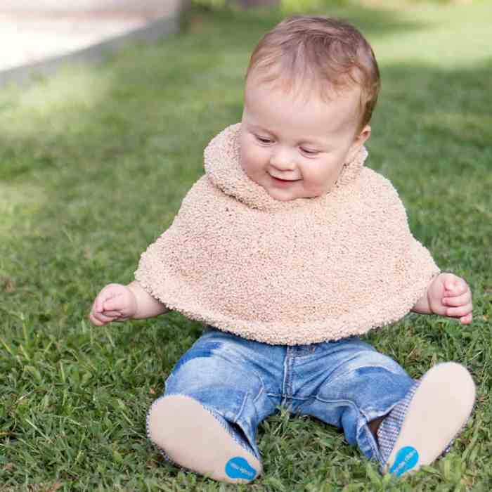 Baby Poncho Knitting Pattern by Gina Michele
