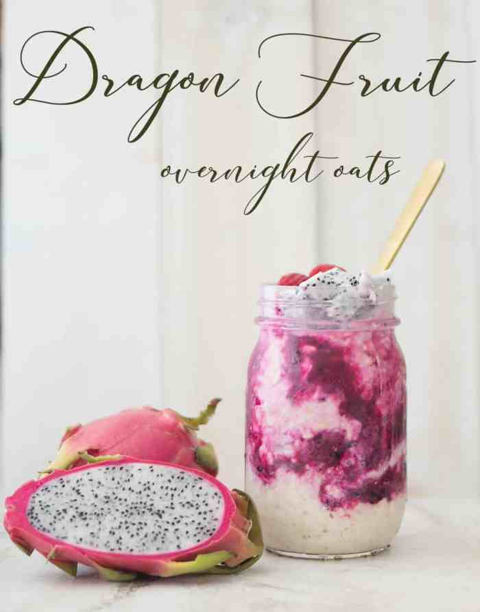 Dragon Fruit Overnight Oats with Chia Seeds