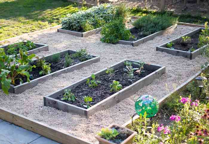 Raised Vegetable Garden with Pea Gravel DIY