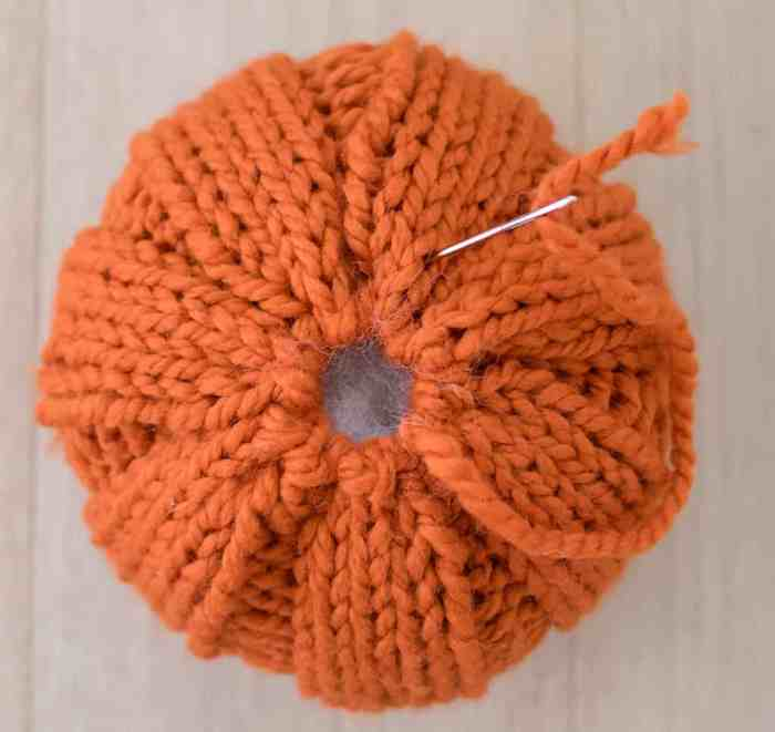 Easiest Large Pumpkin Knitting Pattern