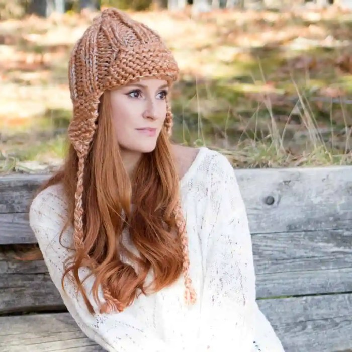 Easy Ear Flap Hat Knitting Pattern