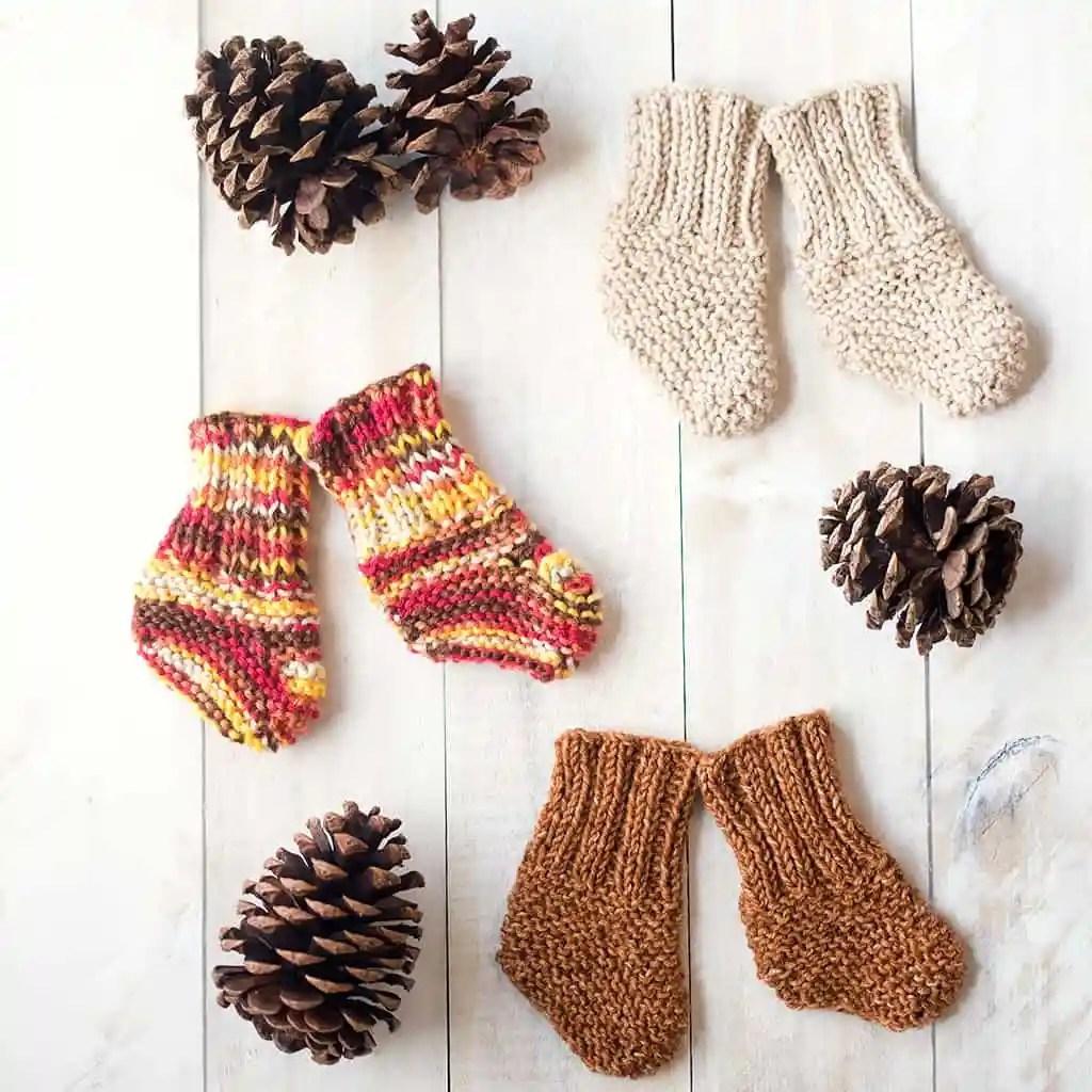 Handknit baby socks