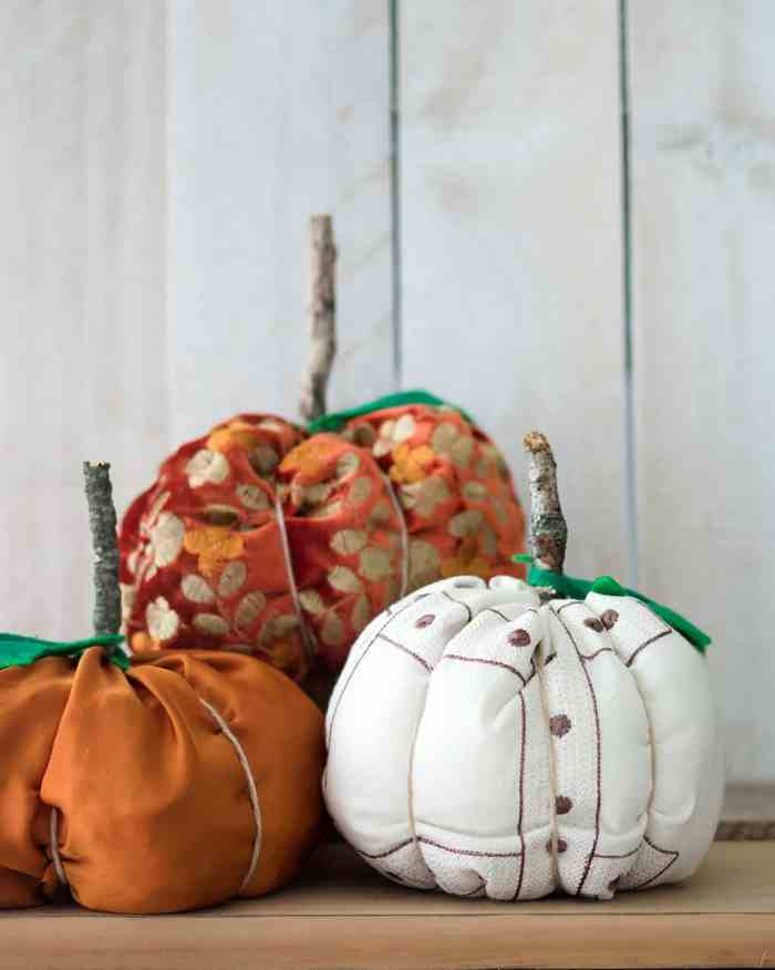 How to Sew Fabric Pumpkins- Fast & Easy!
