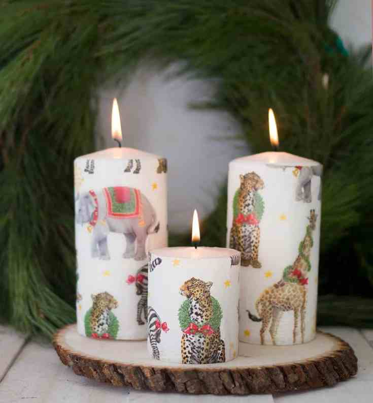 Easy 5 Minute Printed Candles
