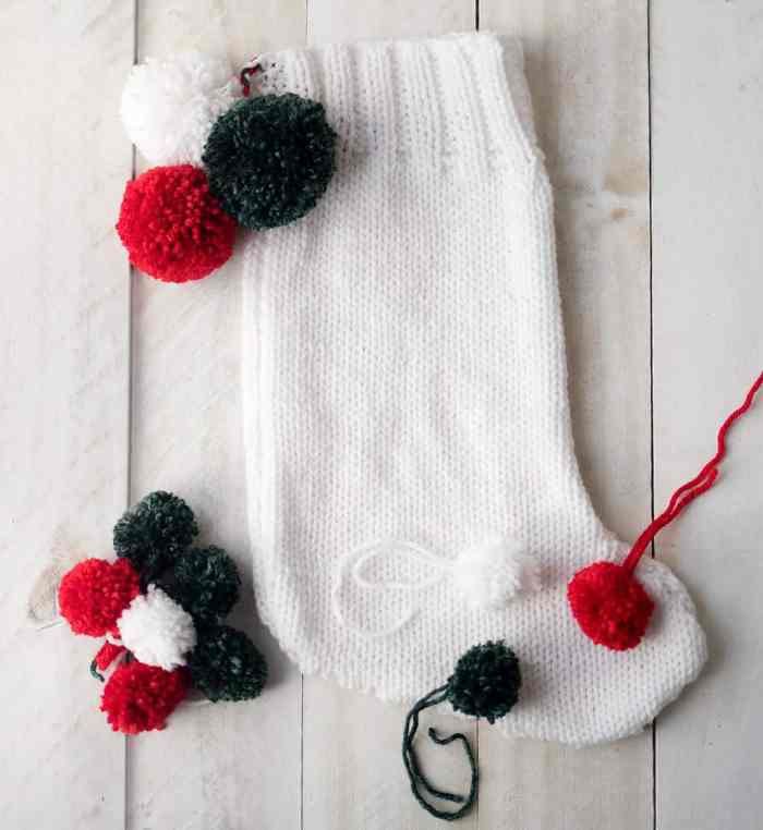 Easy Knit Christmas Stocking Pattern