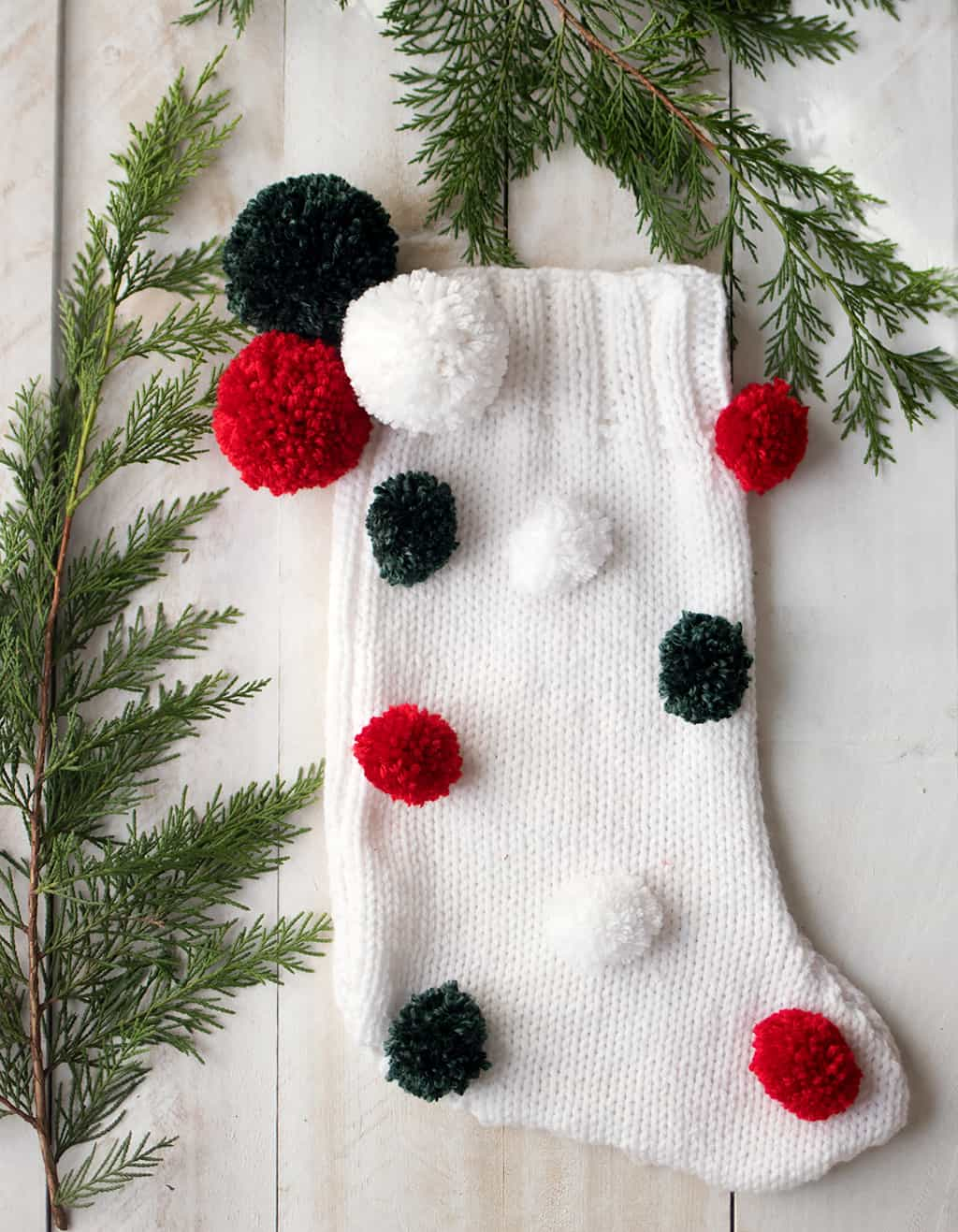 Easy Knit Christmas Stocking Pattern - Gina Michele