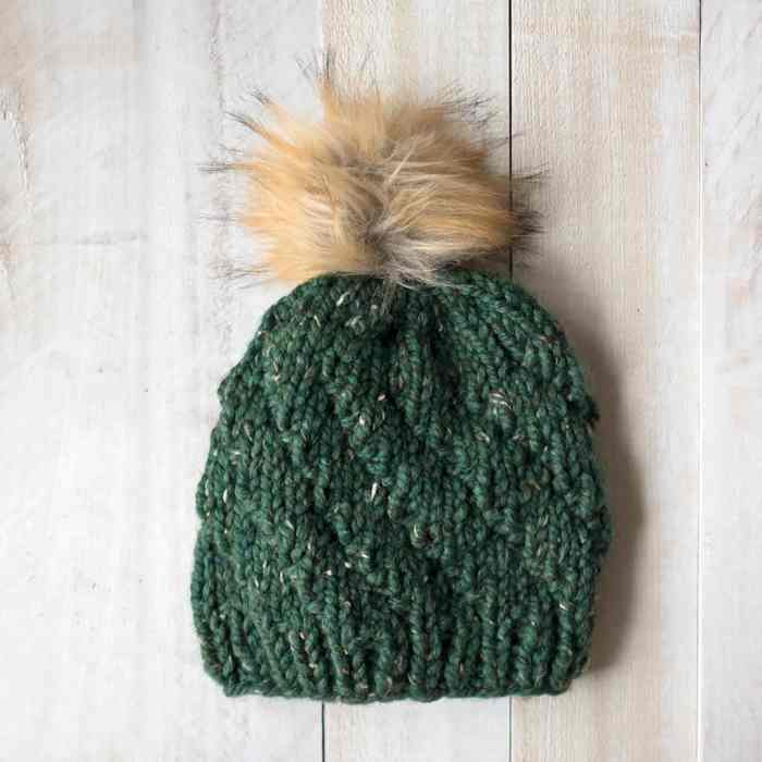 Easy Spiral Hat Knitting Pattern