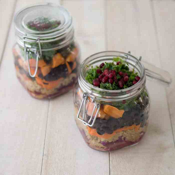 Black Bean and Quinoa Mason Jar Salad