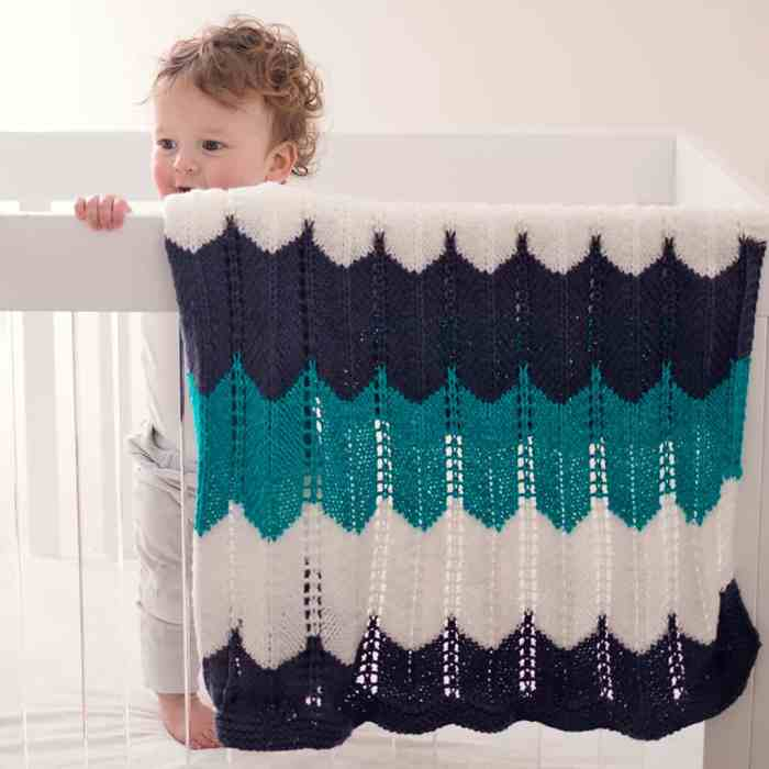 Waves Baby Blanket Knitting Pattern