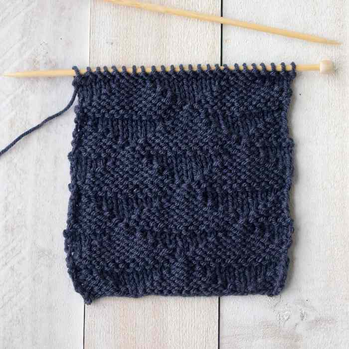 6 Unique Knitting Stitches Using Knit and Purl