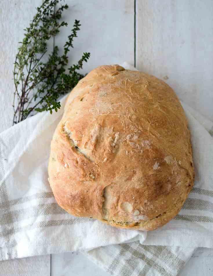Easy Instant Pot No-Knead Bread