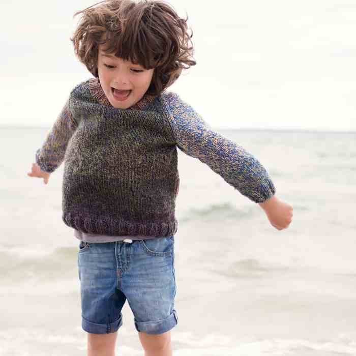 Beginner Kids Sweater Knitting Pattern
