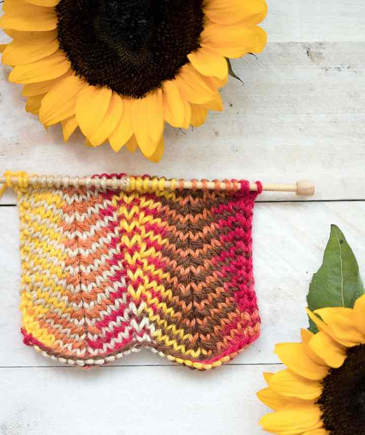 How to Knit the Stockinette Chevron Stitch