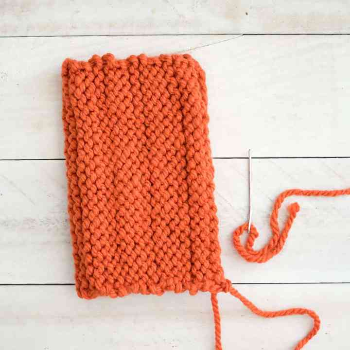 How to knit pumpkins on straight needles