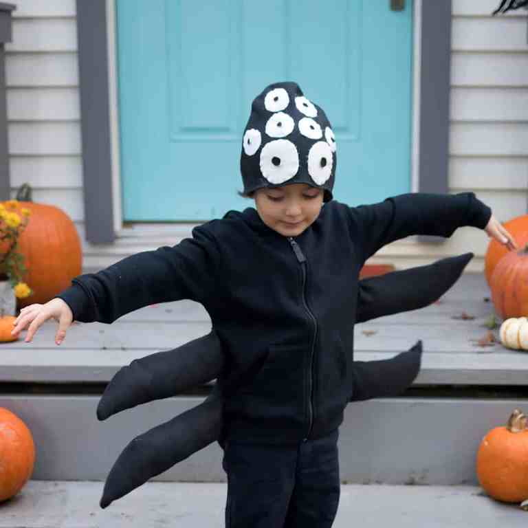 Easy DIY Spider Costume Any Size