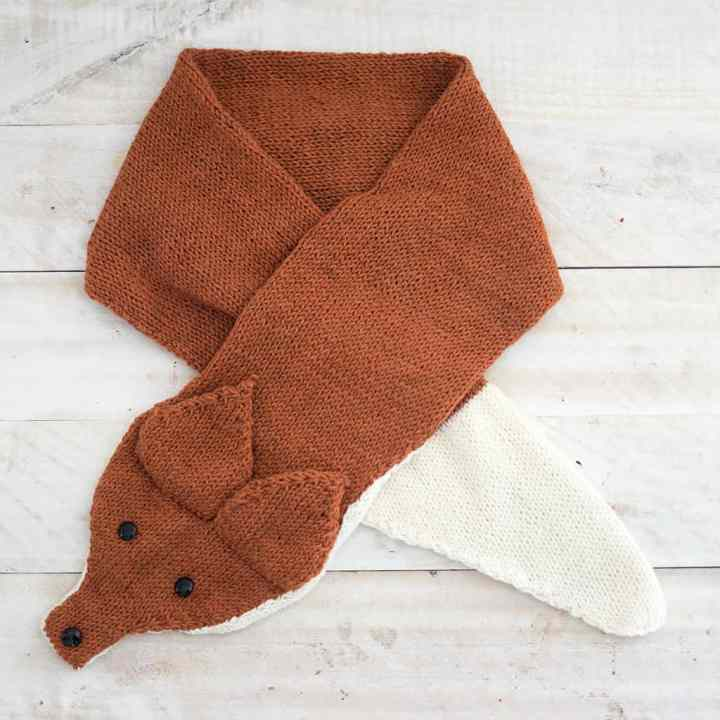 Knit Fox Scarf pattern