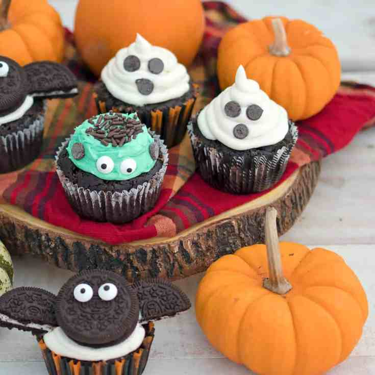 Easy Vegan Chocolate Halloween Cupcakes