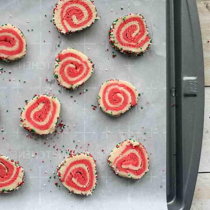 Festive Vegan Christmas Pinwheel Cookies