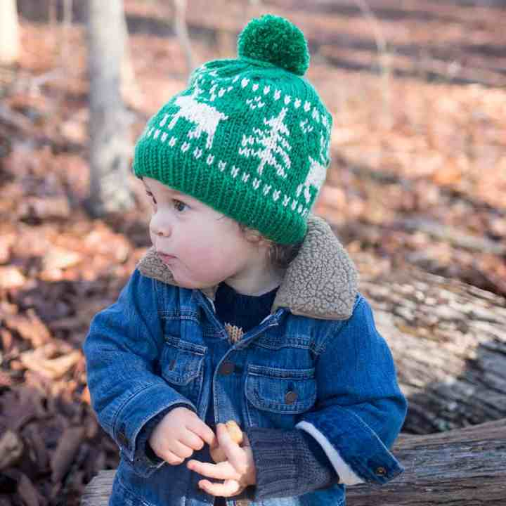 Kids Nordic Reindeer Knitting Pattern