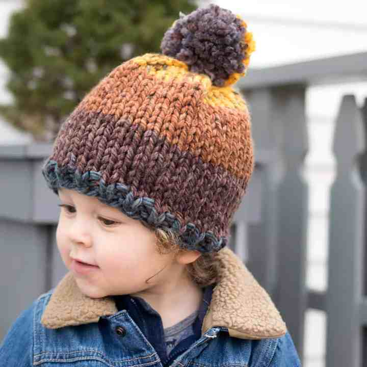 Toddler Thick & Quick Hat Knitting Pattern