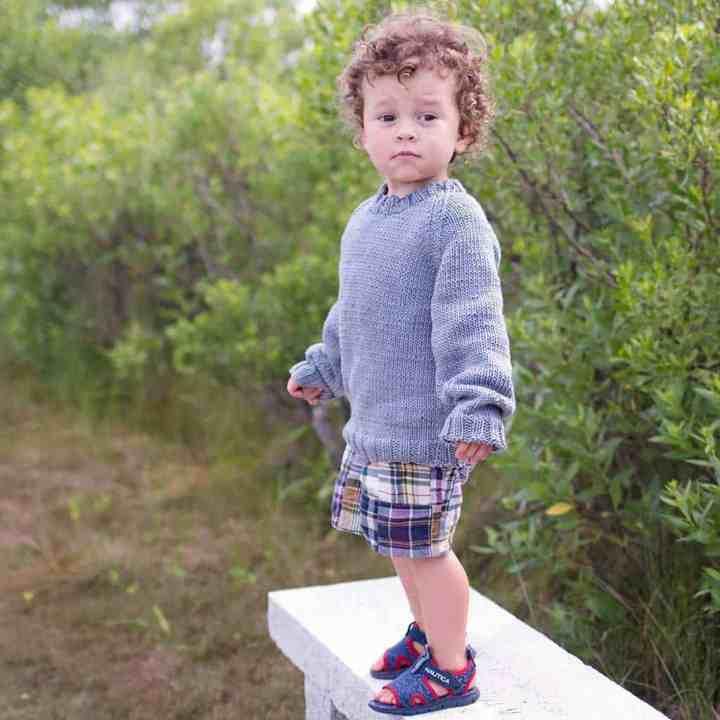 Easy Cotton Toddler Sweater Knitting Pattern