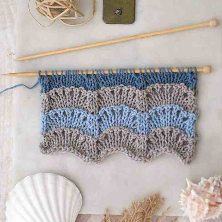 How to Knit the Scallop Stitch