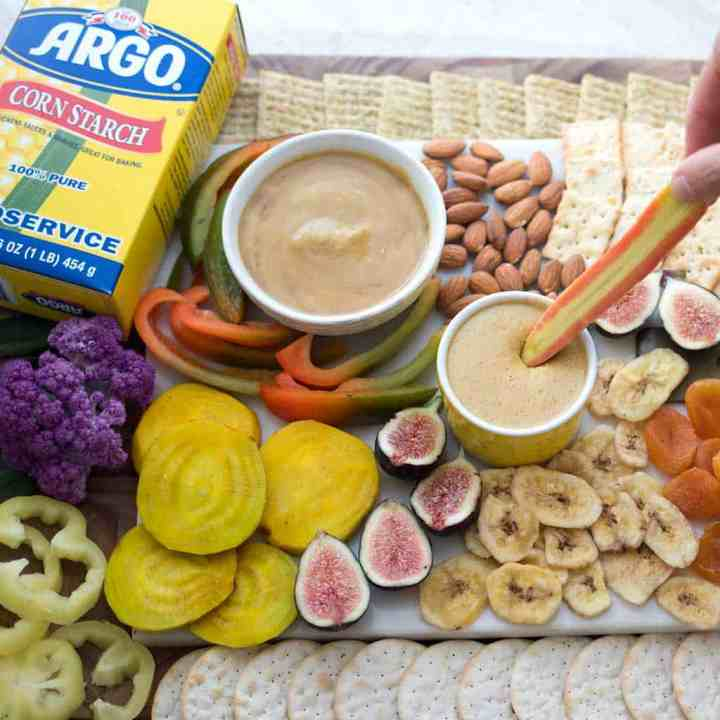 Vegan Charcuterie Board with Easy Dipping Sauces