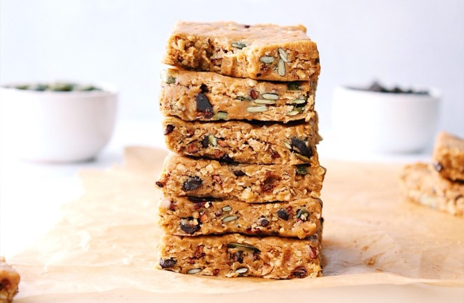 No Bake Peanut Butter Oaty Bars