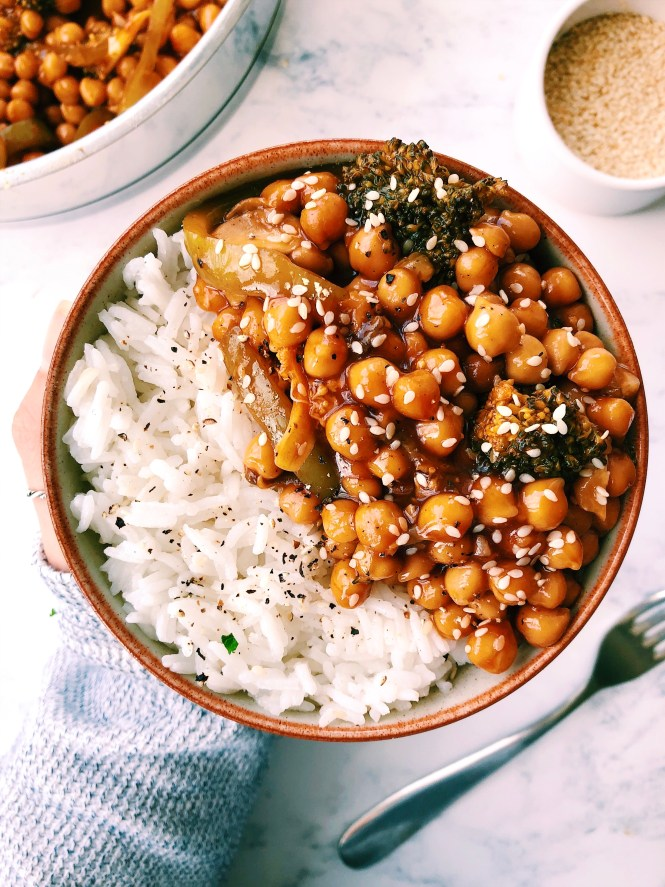 Vegan Gluten free Sweet and Sour Chickpeas