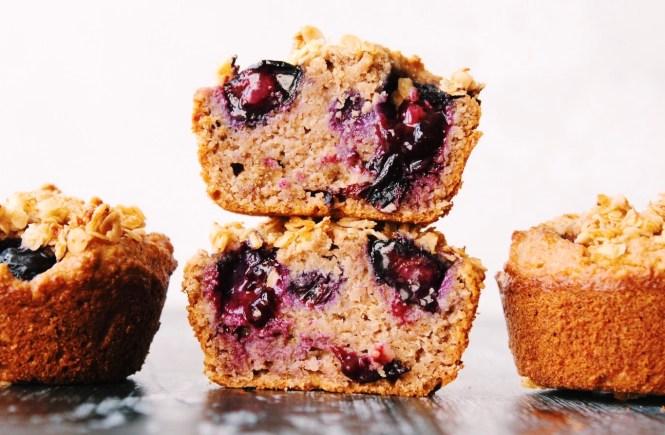 Blueberry Banana Breakfast Muffins {vegan, gluten free}