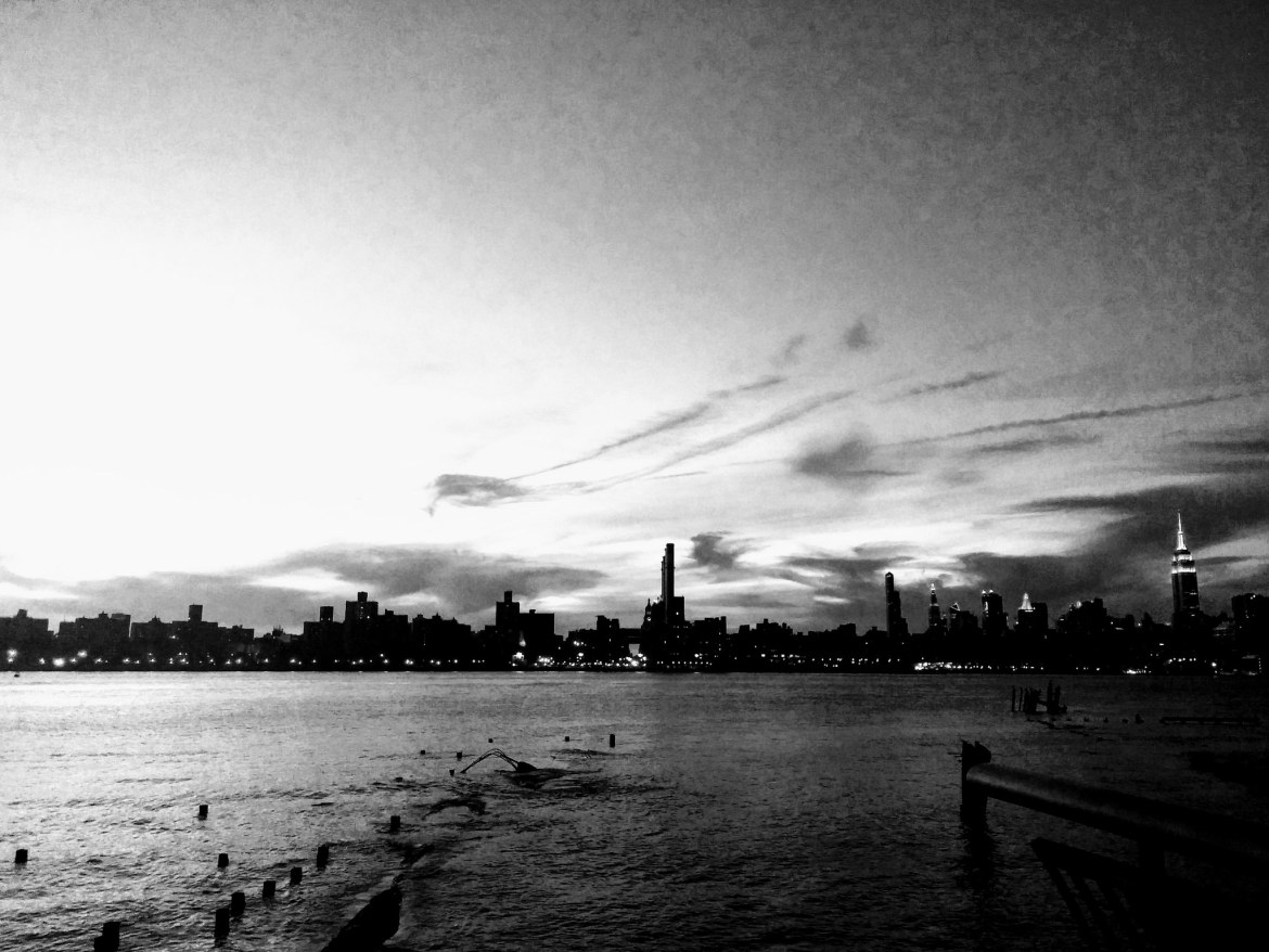 View of Manhattan from Bushwick Inlet Park