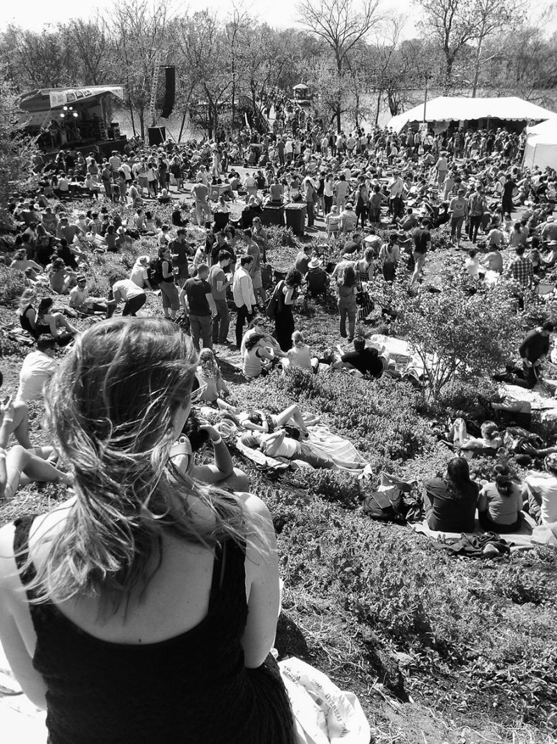people gather for a music festival in DC