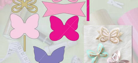 Butterfly Bow | Free Template & Cut File