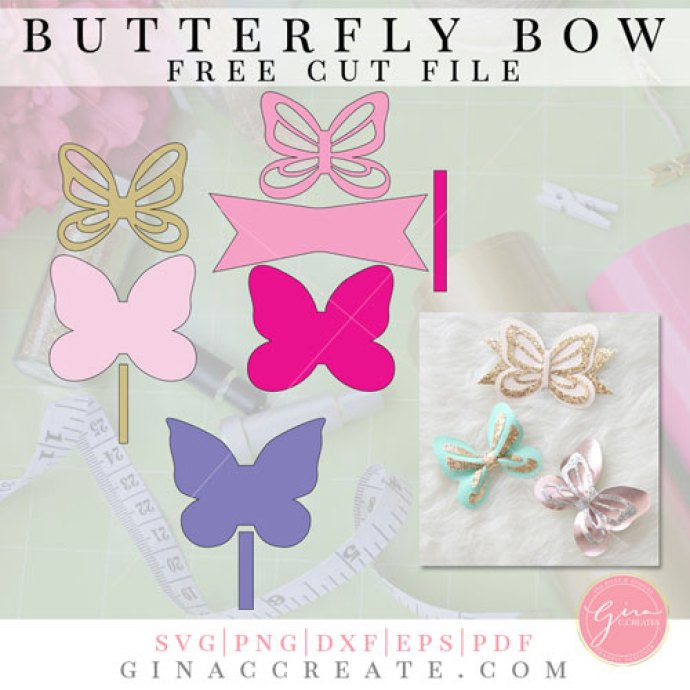 butterfly bow free template &