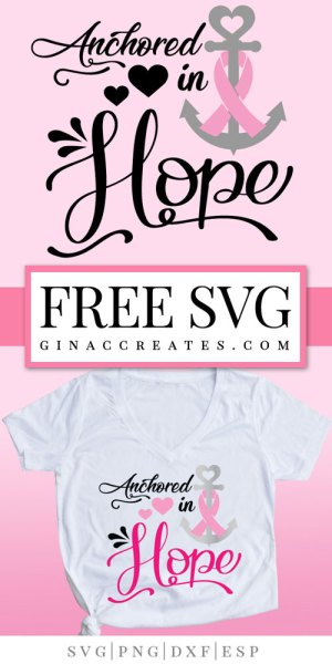 anchored in Hope free svg cancer awareness