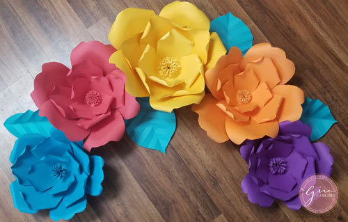 colorful paper flower template