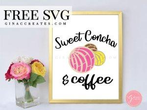 sweet concha bundle svg