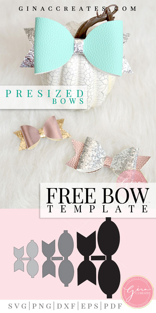 picture about Hair Bow Template Printable named Classic Bow Totally free Template Slice Information Gina C. Produces