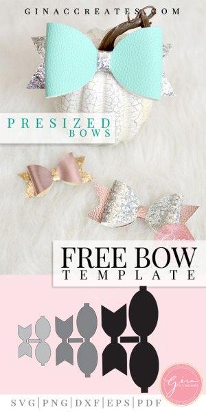 Standard Bow Free Template Cut Files Gina C Creates