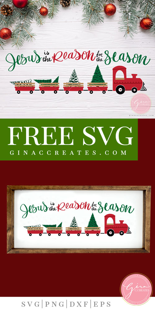 free svg Christmas train