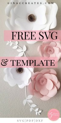 Free Svg Printable Paper Flower Template Gina C Creates
