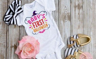 Free Mock-up Image | Baby White Bodysuit