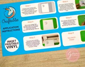craftables waterproof printable vinyl insert